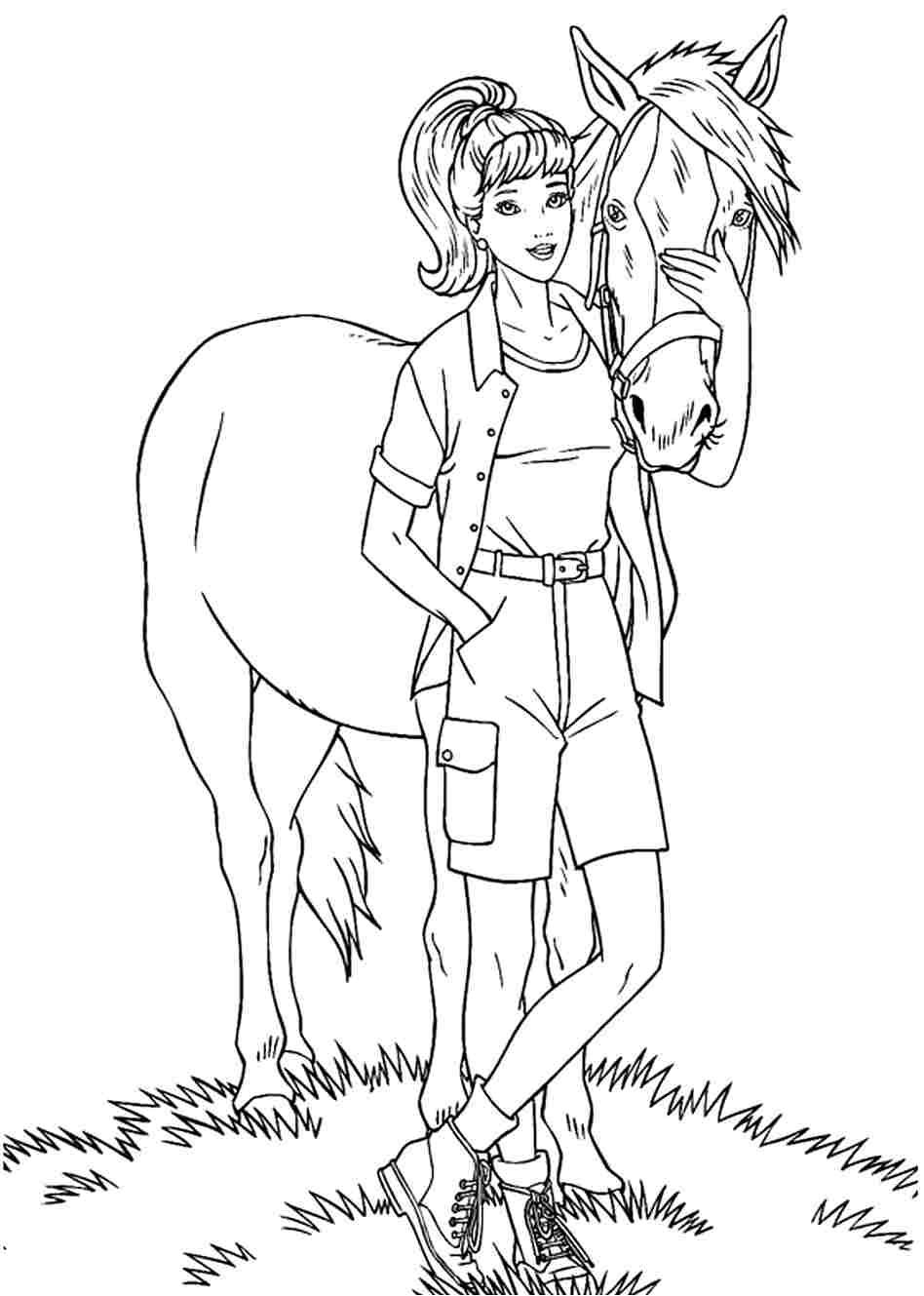 Игры раскраски барби и лошадь