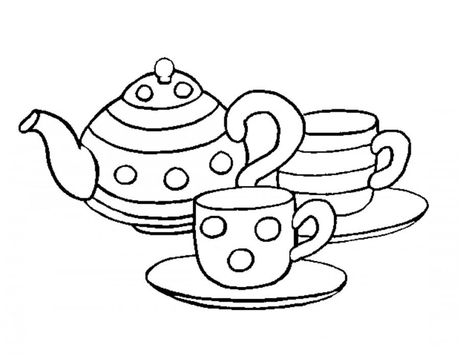 Раскраска посуды 26
