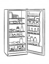 Картинка раскраска холодильник