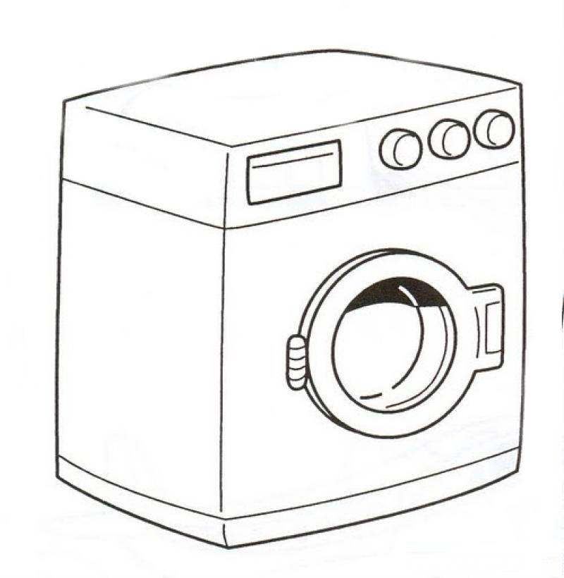 Раскраска стиральной машины