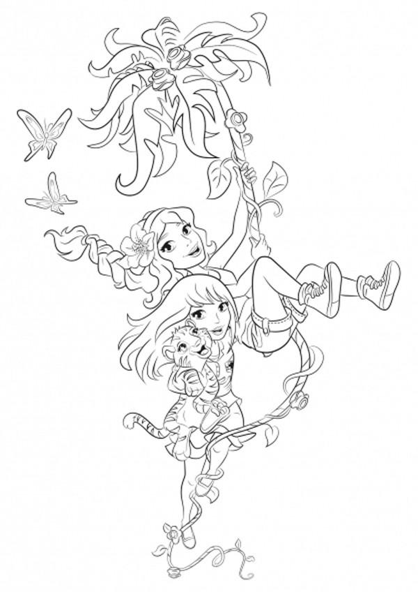 Раскраска лего френдс для девочек - 5