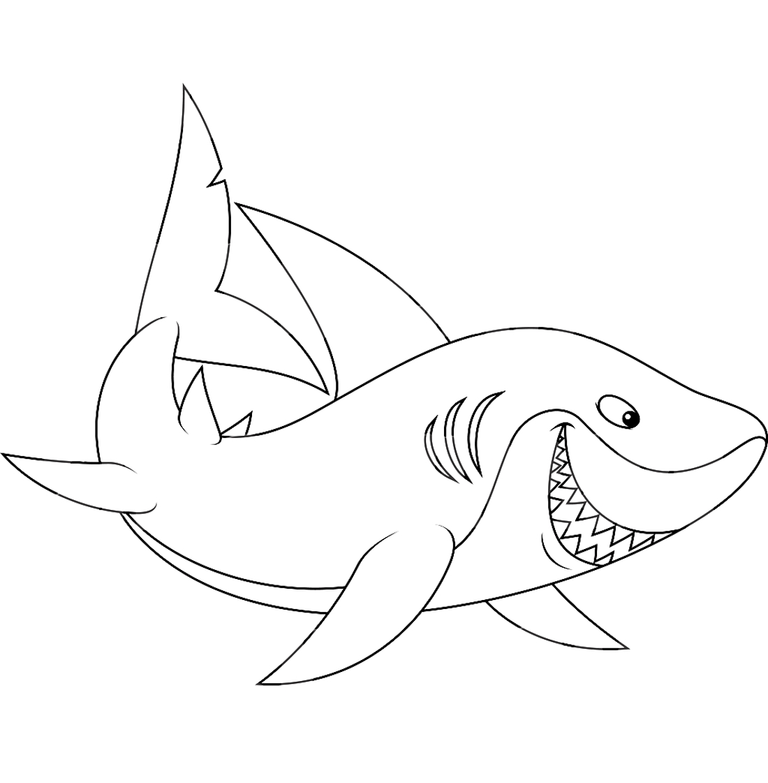 Shark Coloring Pages And Posters Kidzone