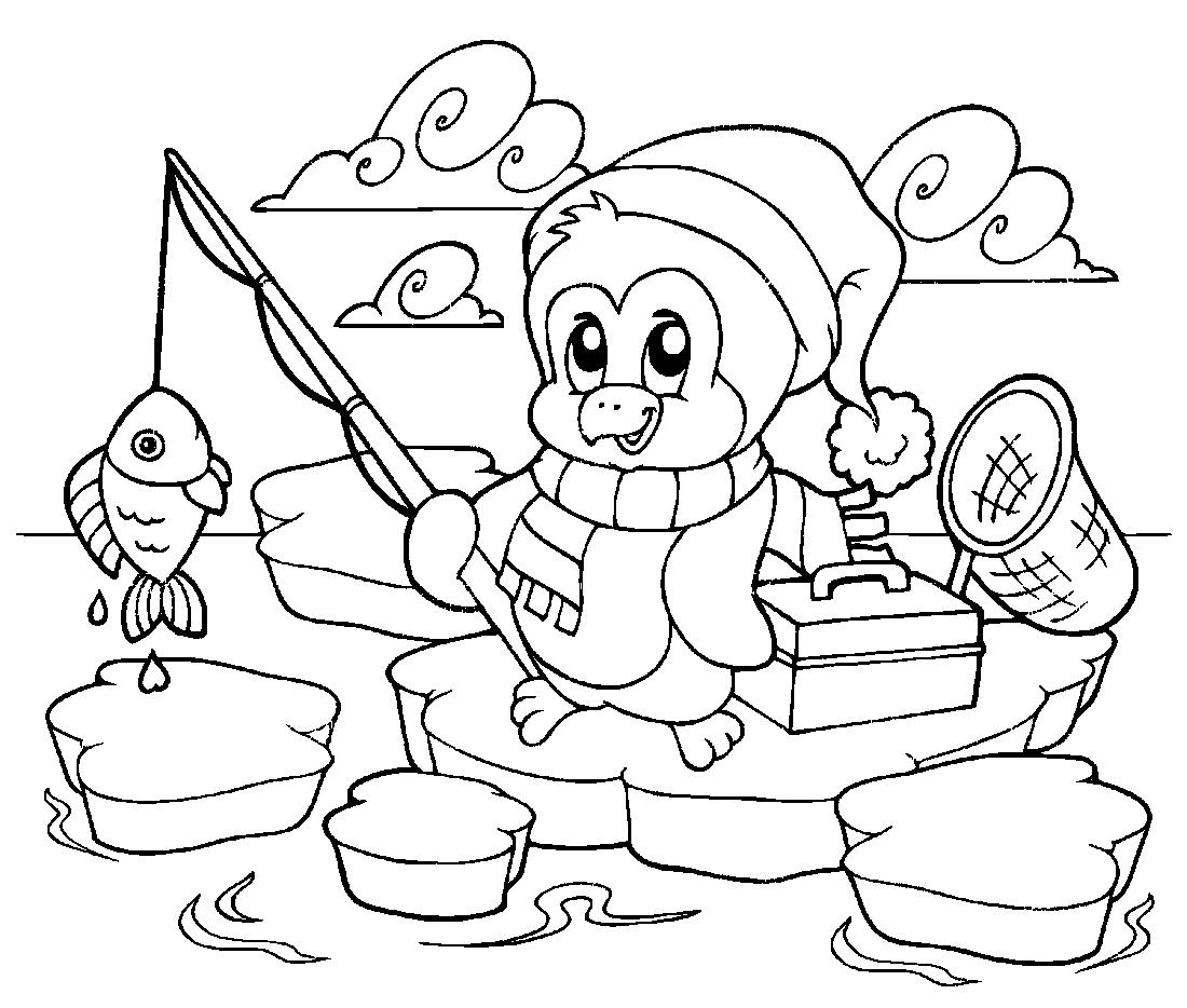 Ловить рыбу раскраска