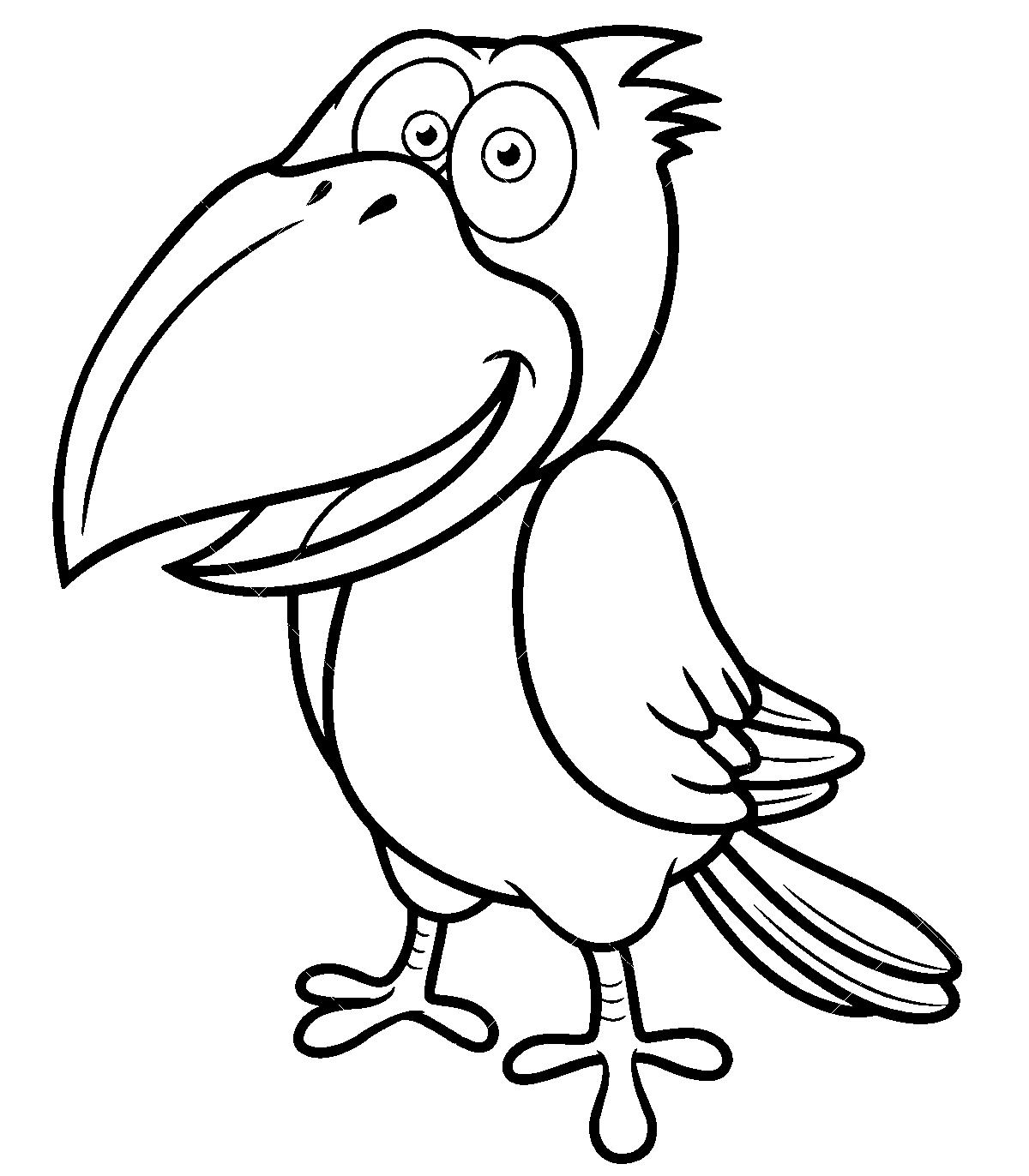 Ворона раскраски для детей распечатать