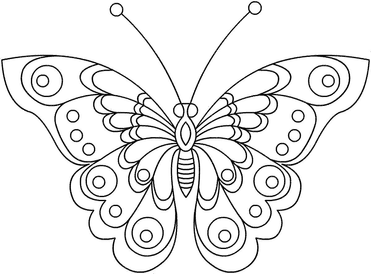 Рисуем бабочек раскраски