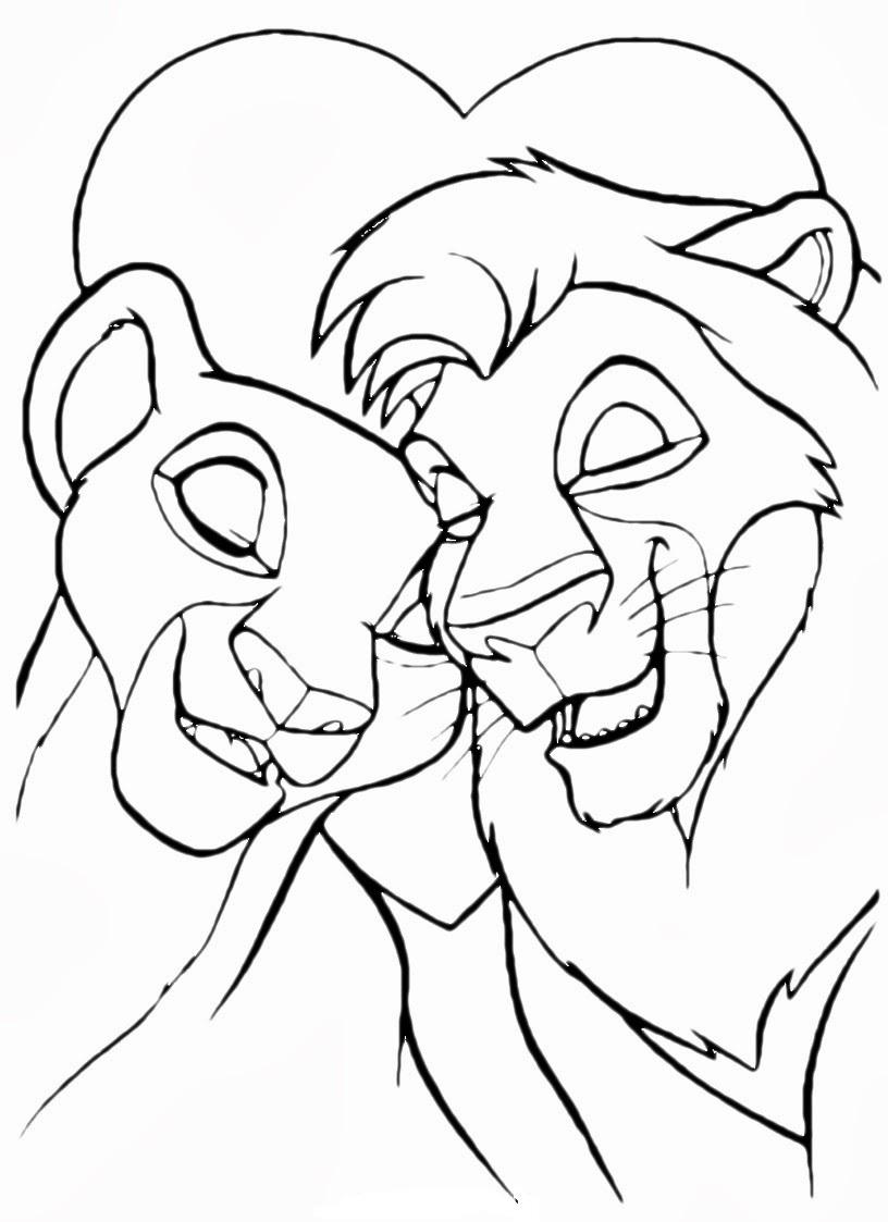 Лев и собачка раскраска