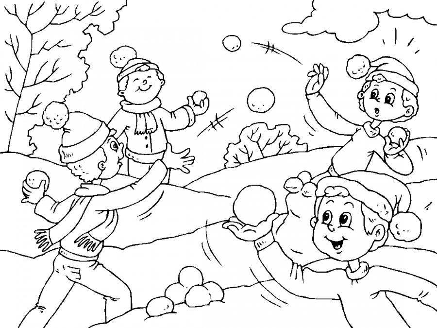 Детские забавы раскраски