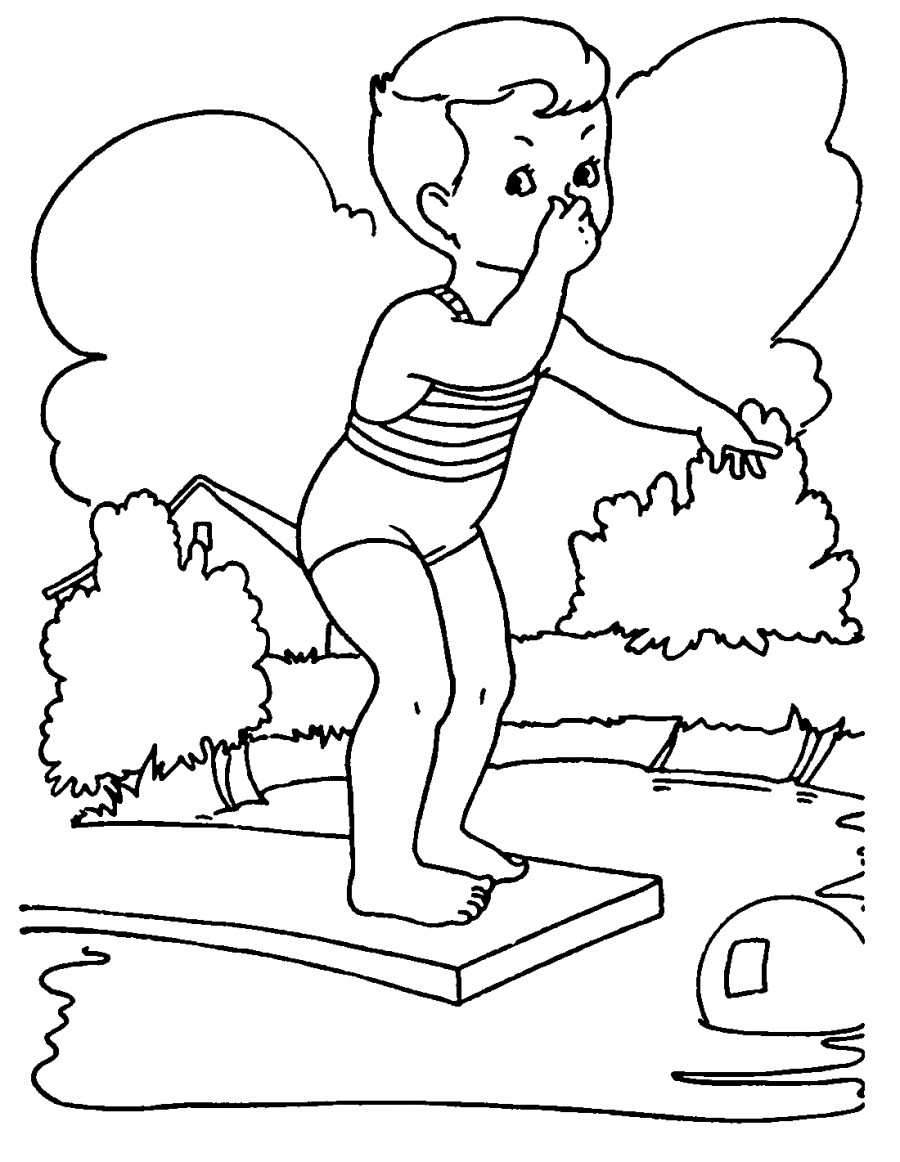 Water fountain coloring page