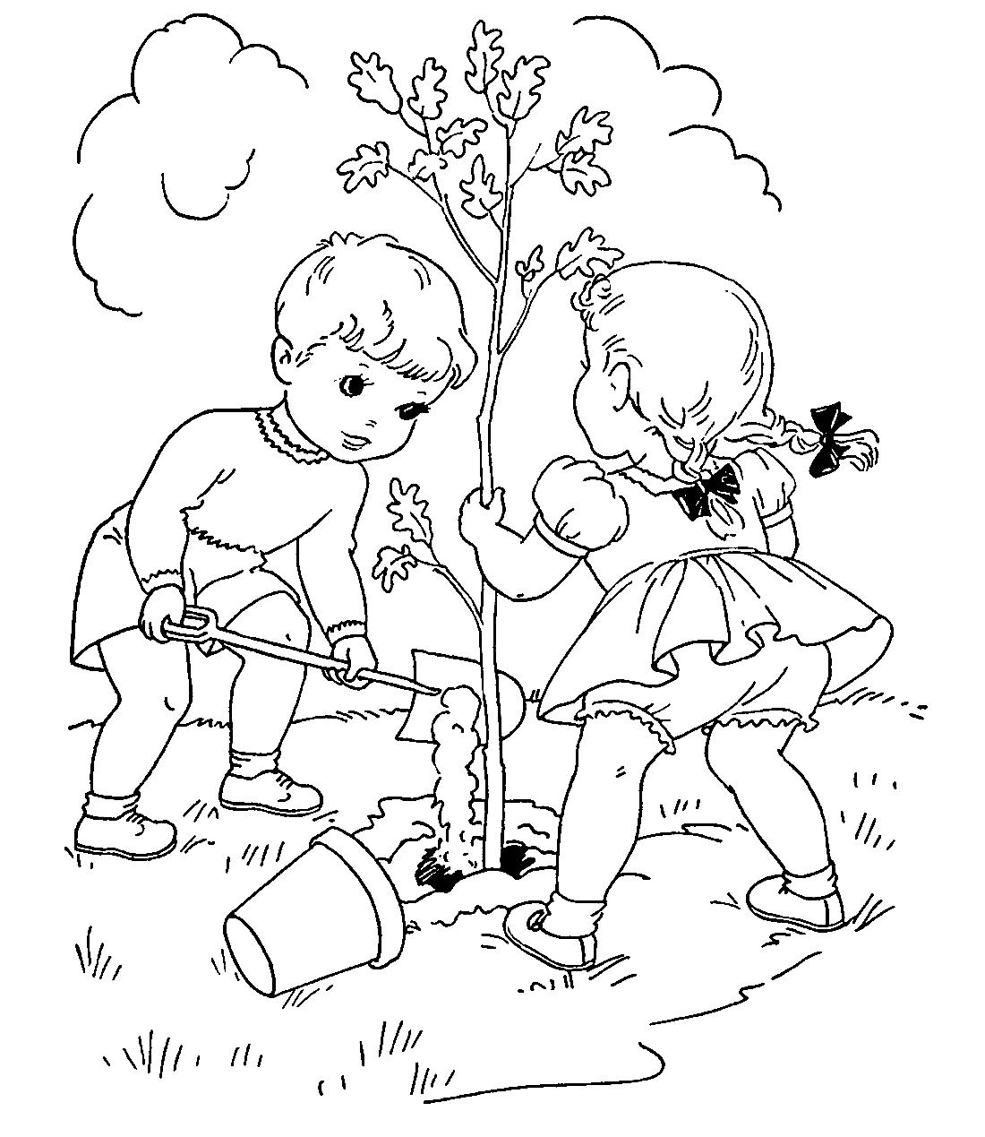Кто сажает лес раскраска 29