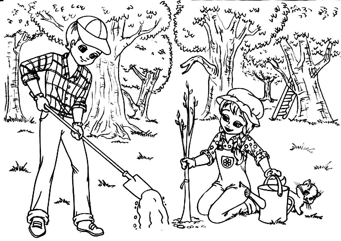 Кто сажает лес раскраска 77