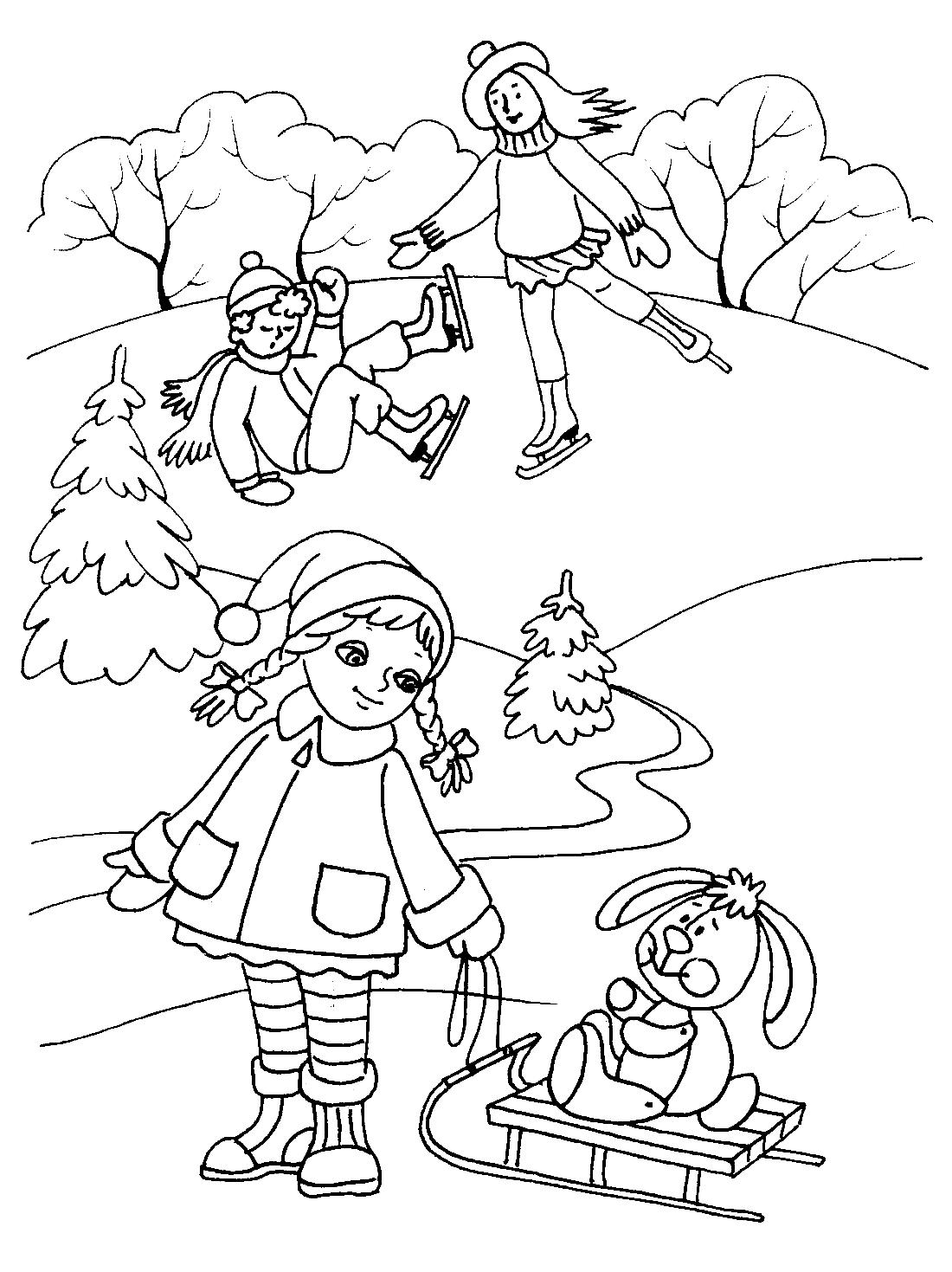 Картинки дети и природа зимой