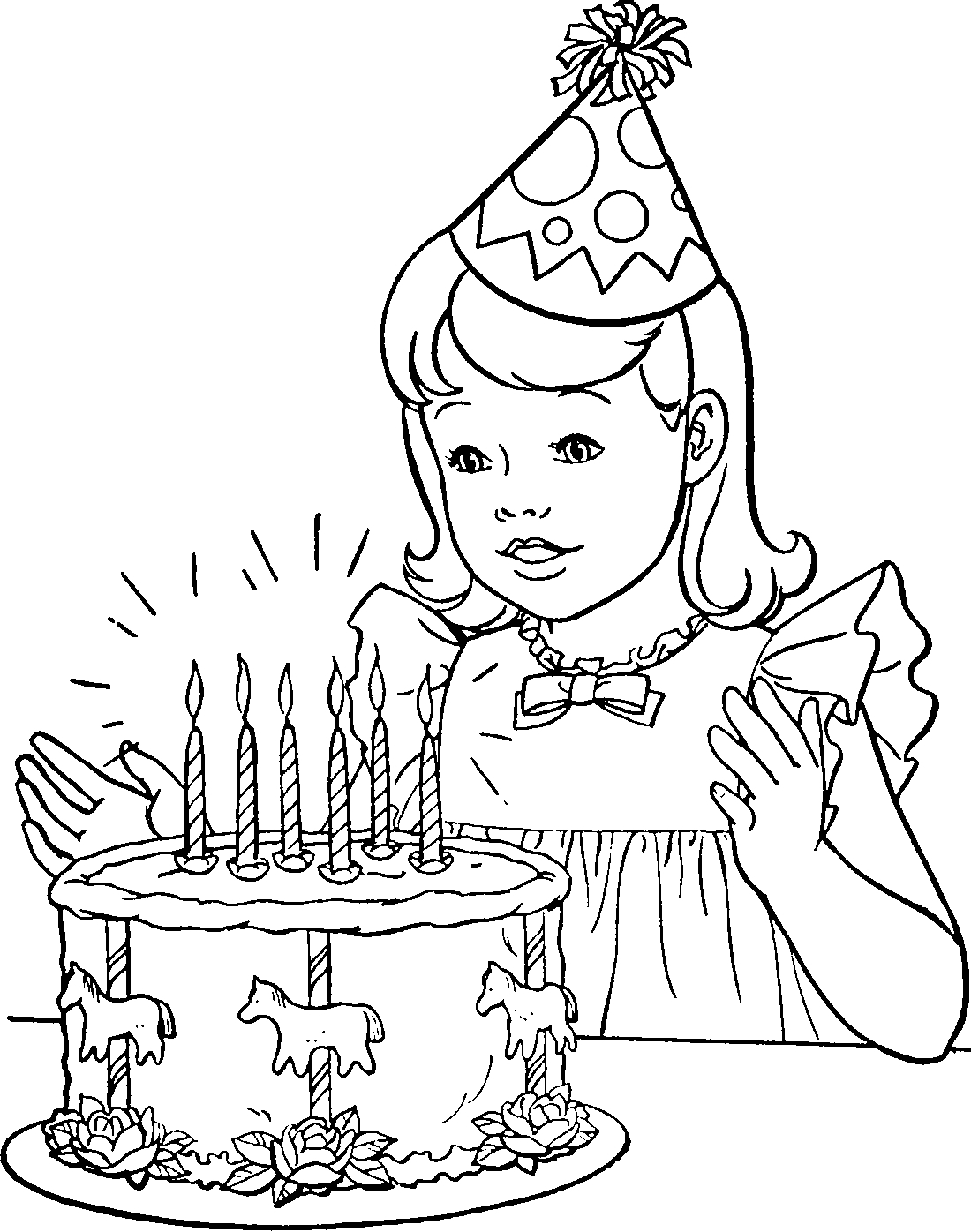 Раскраска на день рождения девочке
