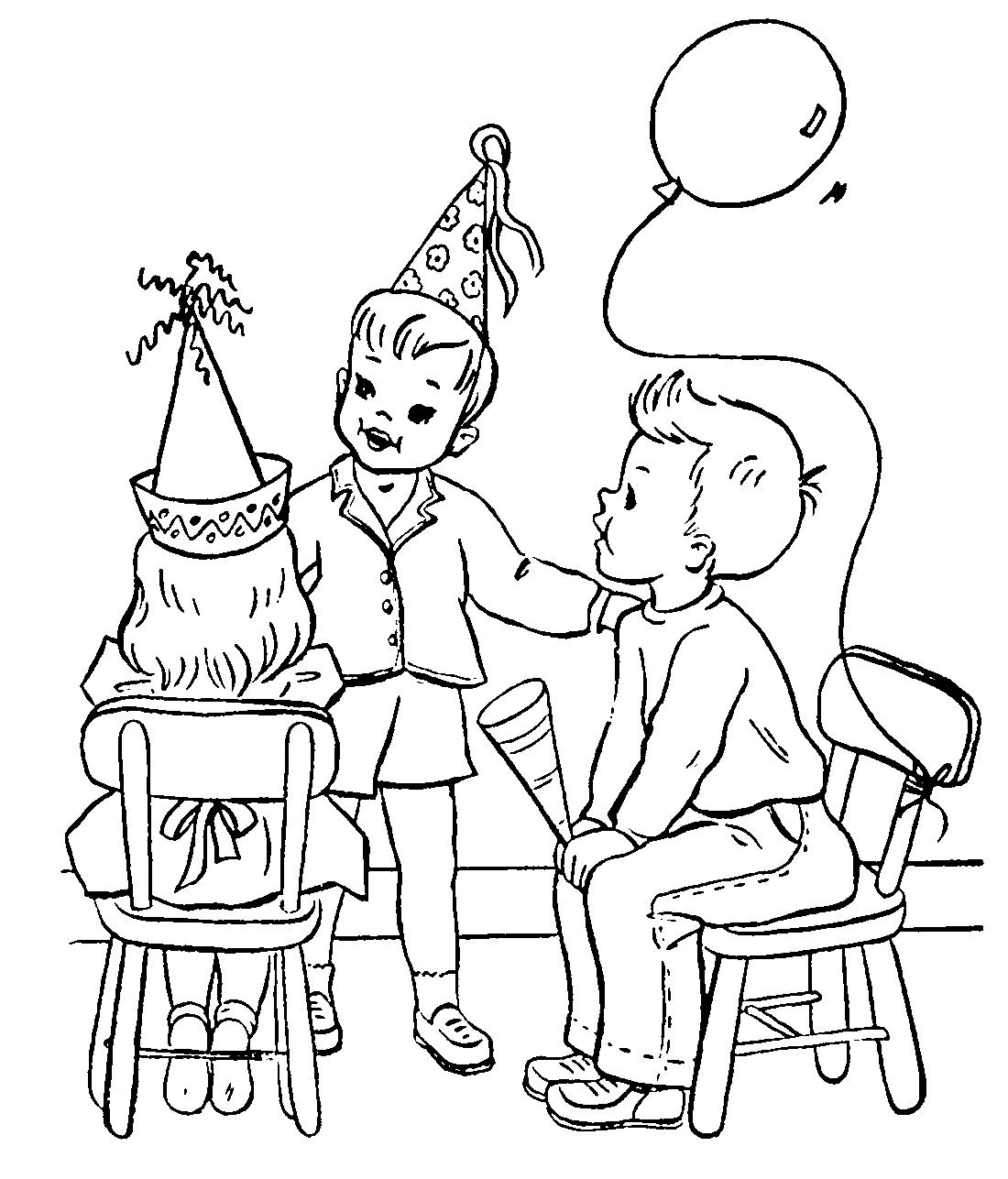 Раскраски мой день рождения