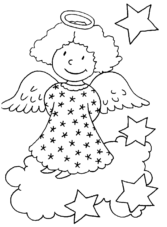 Картинки ангел раскраска