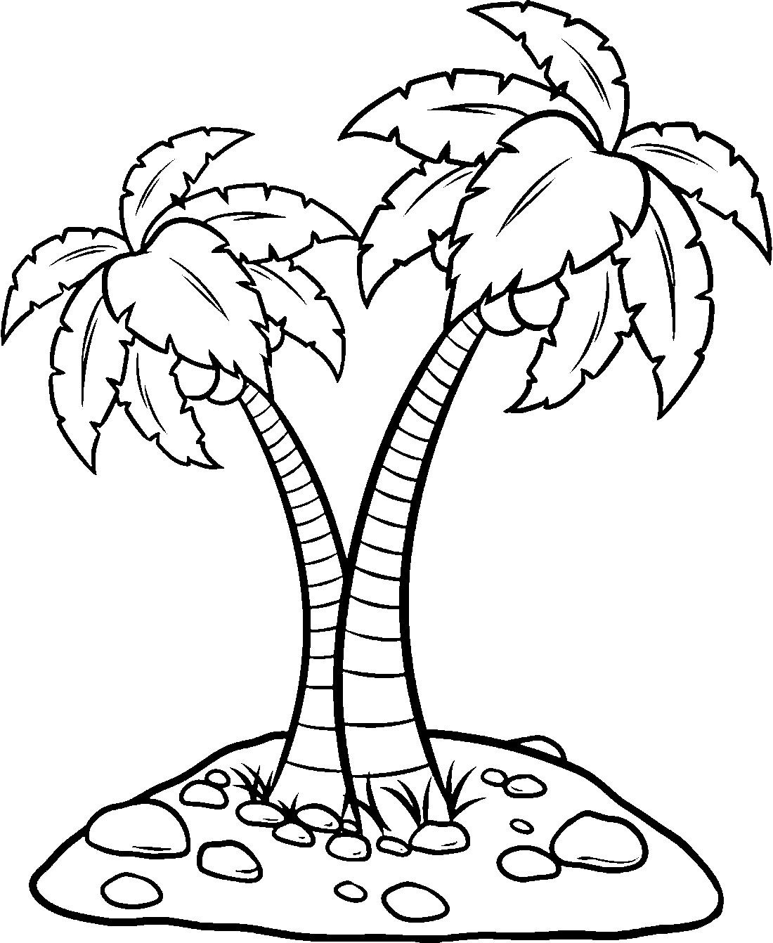 Пальмы раскраска в картинках