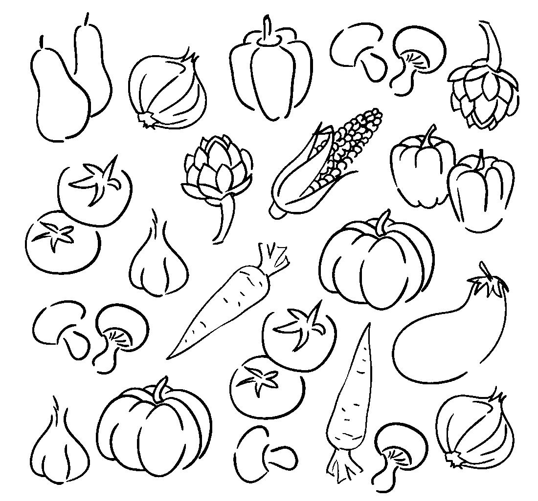 картинки для детей раскраски овощи