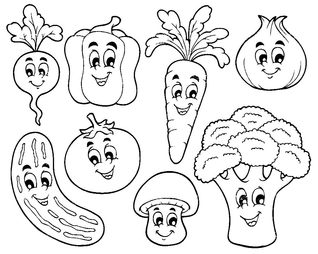 Разные овощи - раскраска №13841 | Printonic.ru