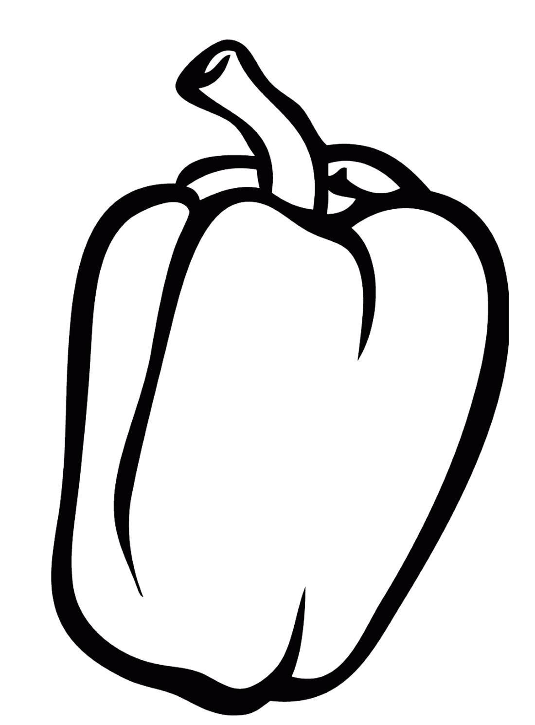 Раскраски перец
