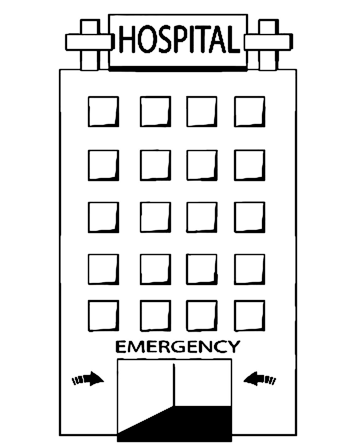 многоэтажная больница раскраска 13503 Printonic Ru