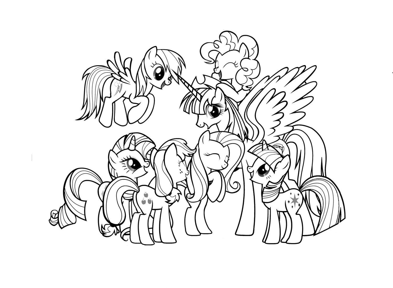 Раскраски пони дружба - 6