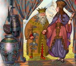 Картинки к сказке пушкина сказка о золотом петушке