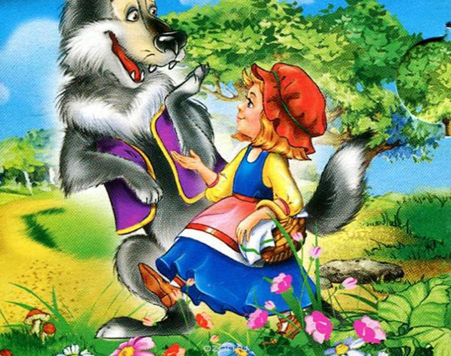 Красная шапочка и волк - картинка №10864 | Printonic.ru