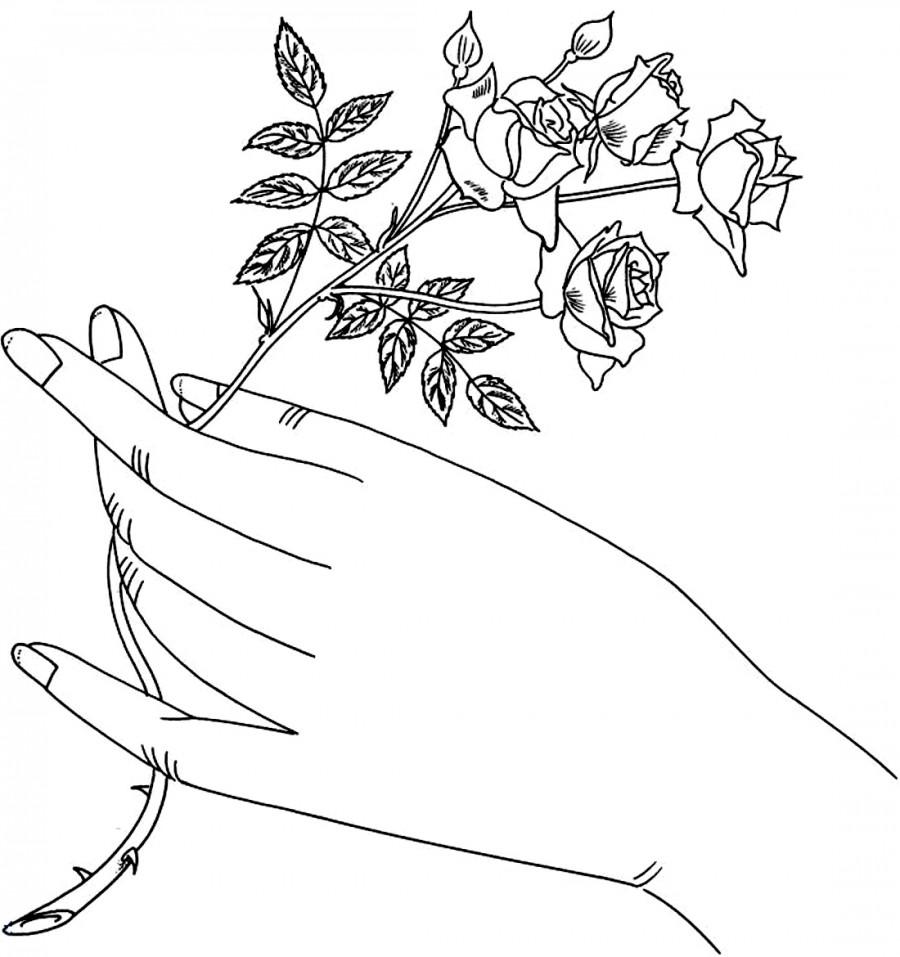 Раскраски красивые руки
