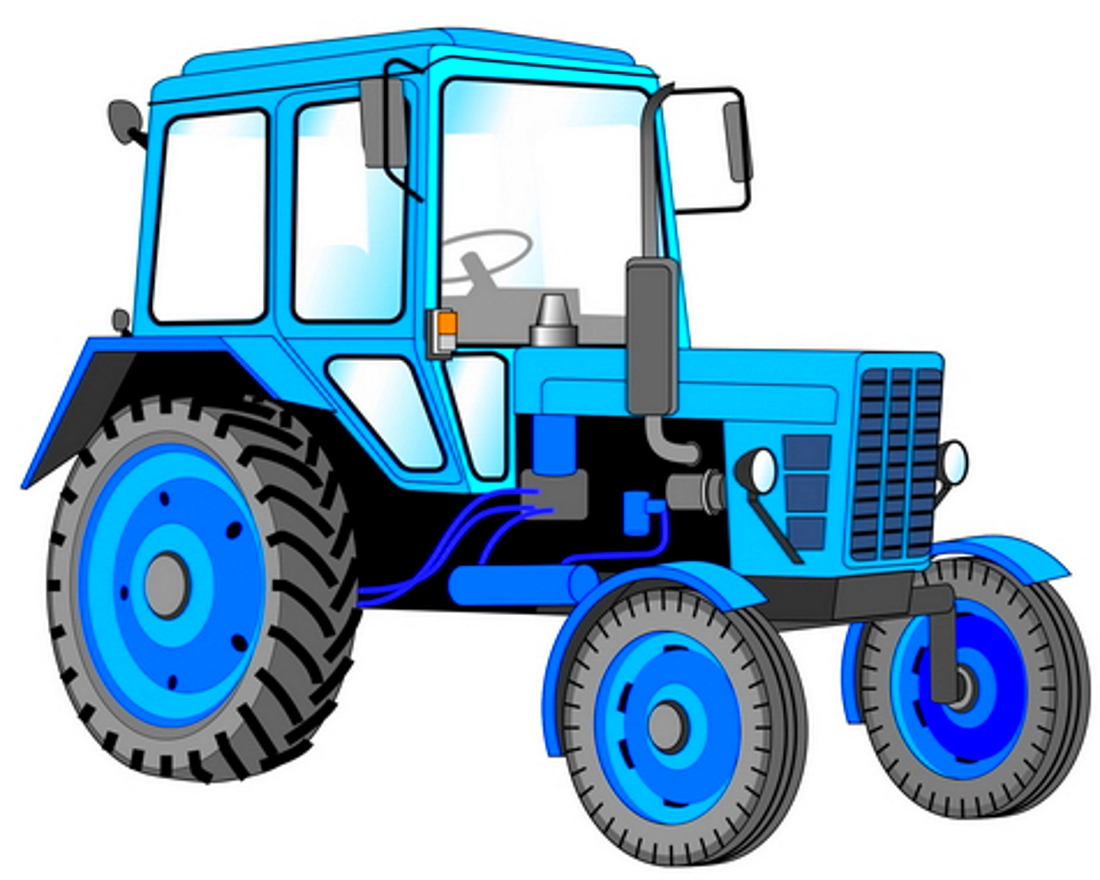 Синий трактор - картинка №10187 | Printonic.ru