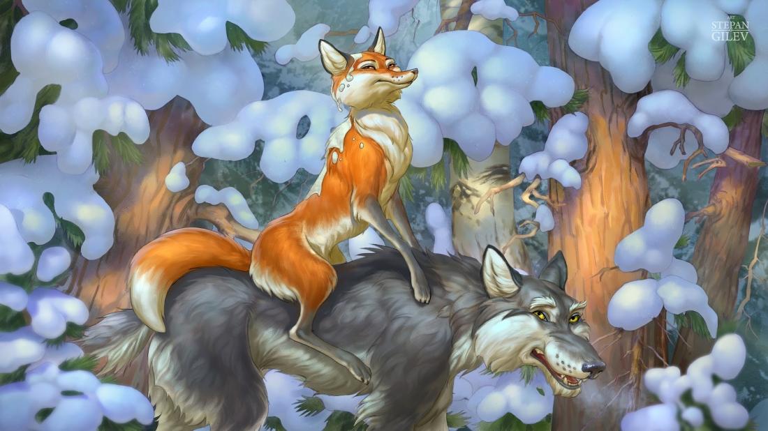 Картинка хитрой лисы