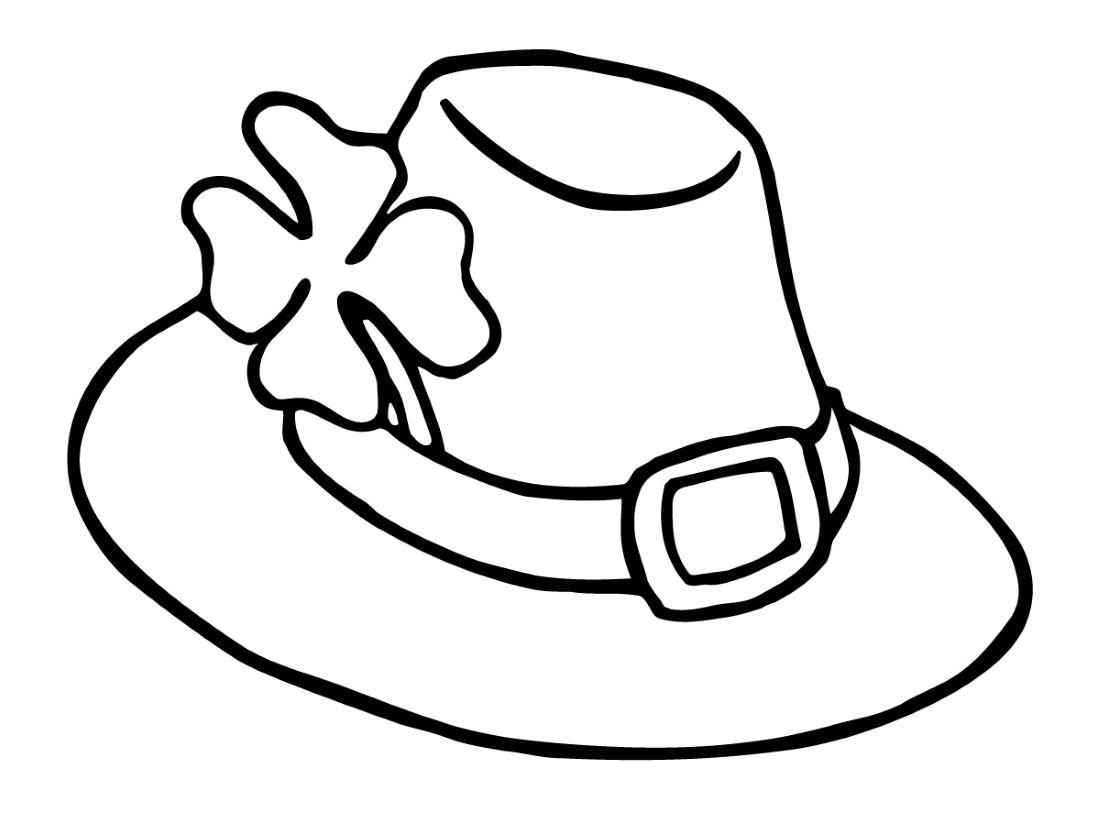 Leprechaun Hat  Free Leprechaun Coloring Page  JumpStart