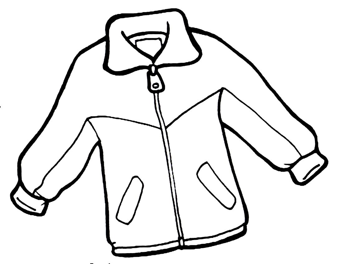 Картинка куртки раскраска