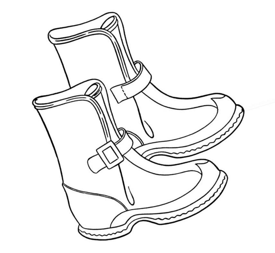 раскраски ботинок