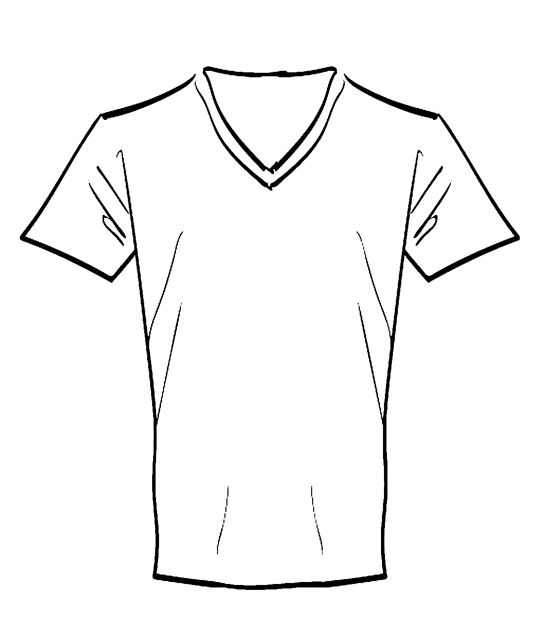 Чёрно-белые картинки одежды