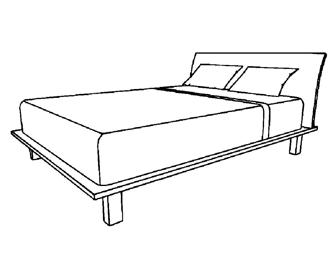 Картинка Раскраска Кровать