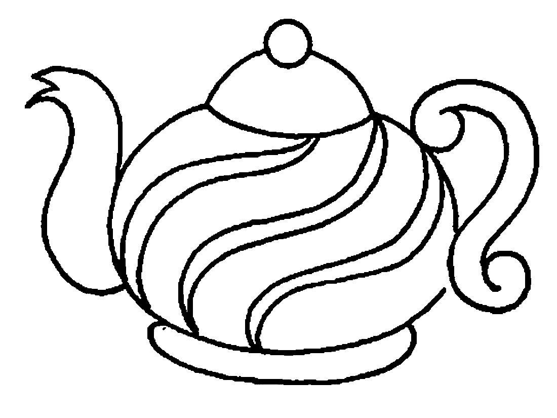 Раскраска посуды 43