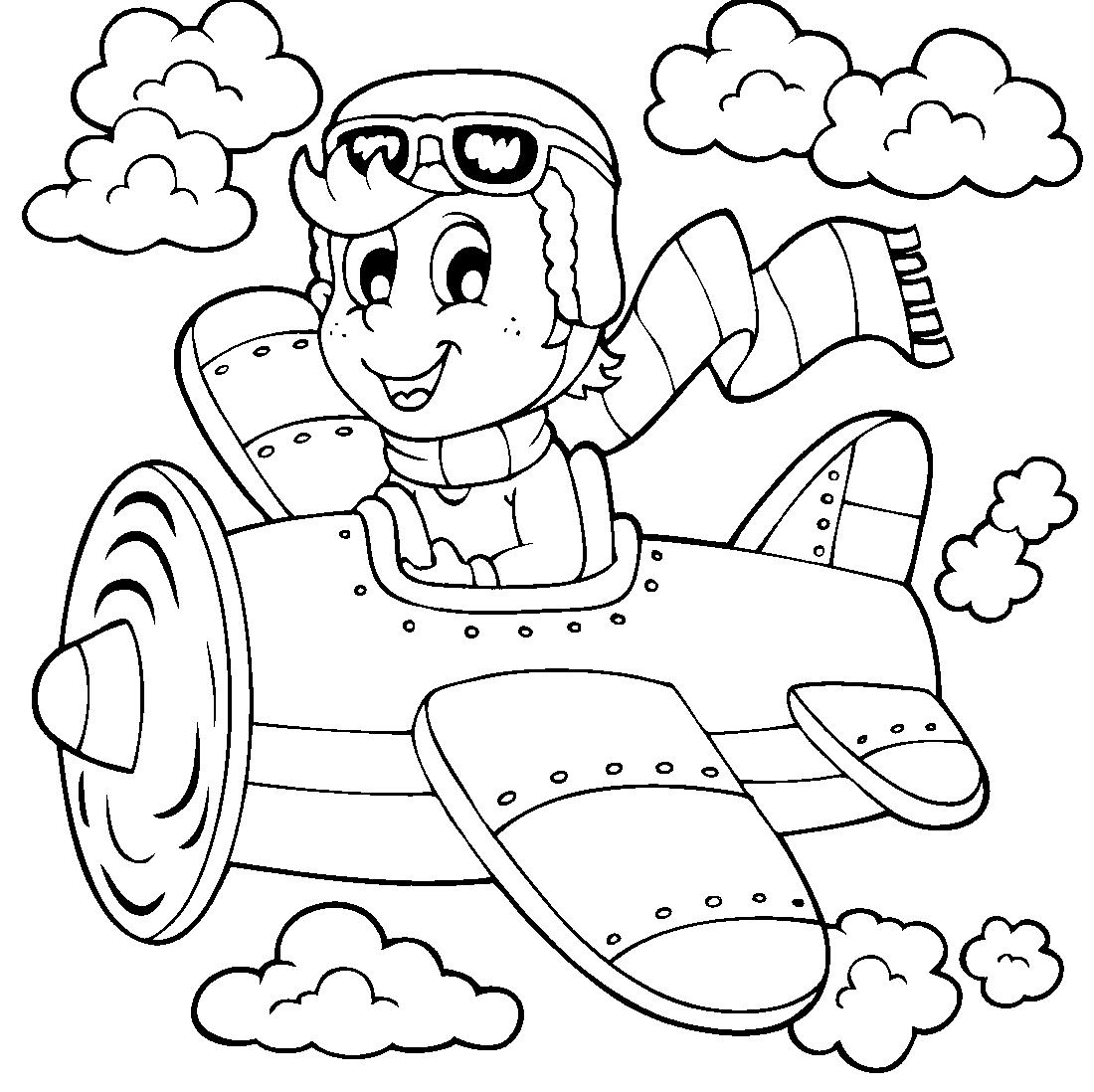 Раскраски лётчиков