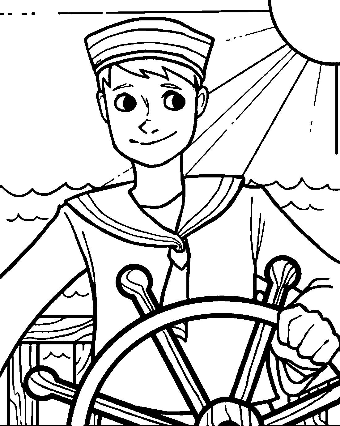 моряк и солнышко раскраска 6636 Printonic Ru