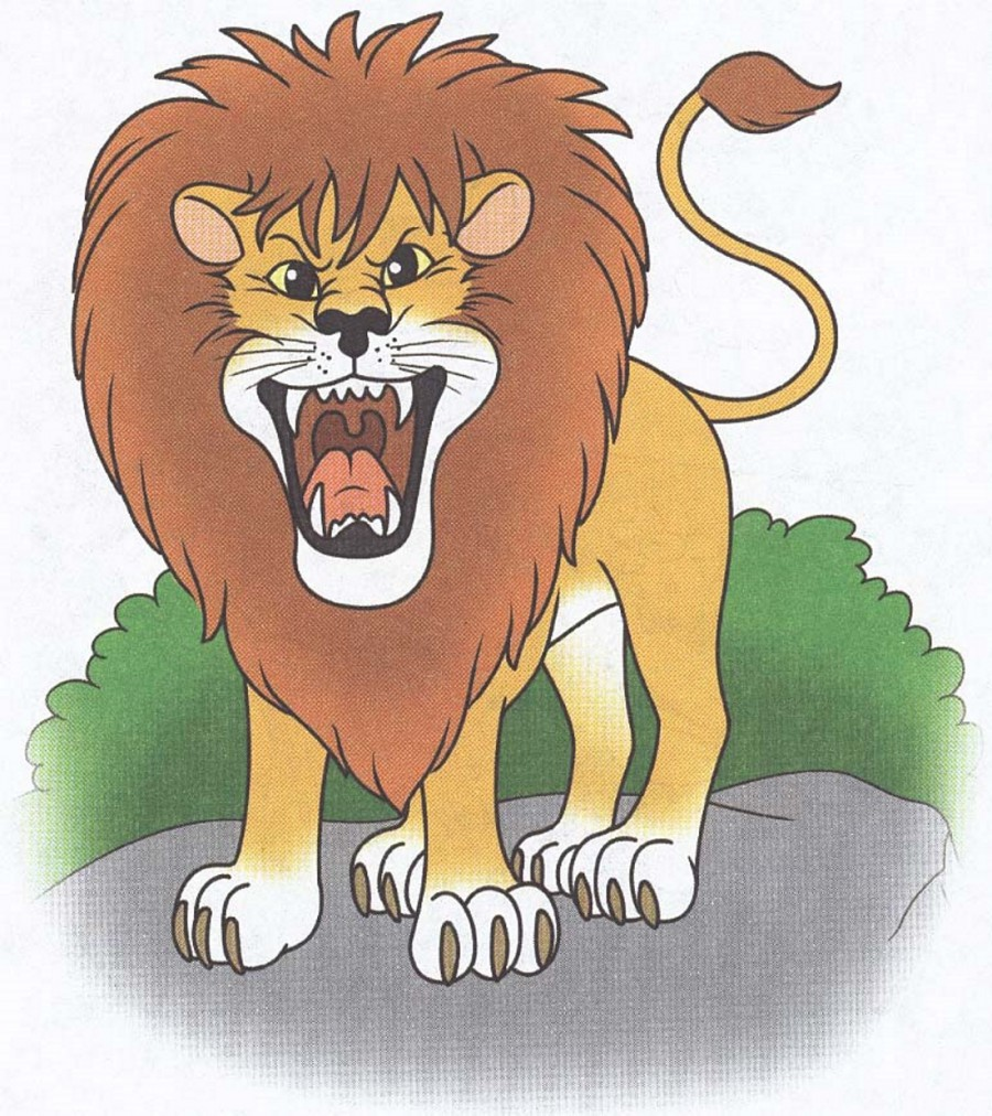 Рычащий лев рисовать
