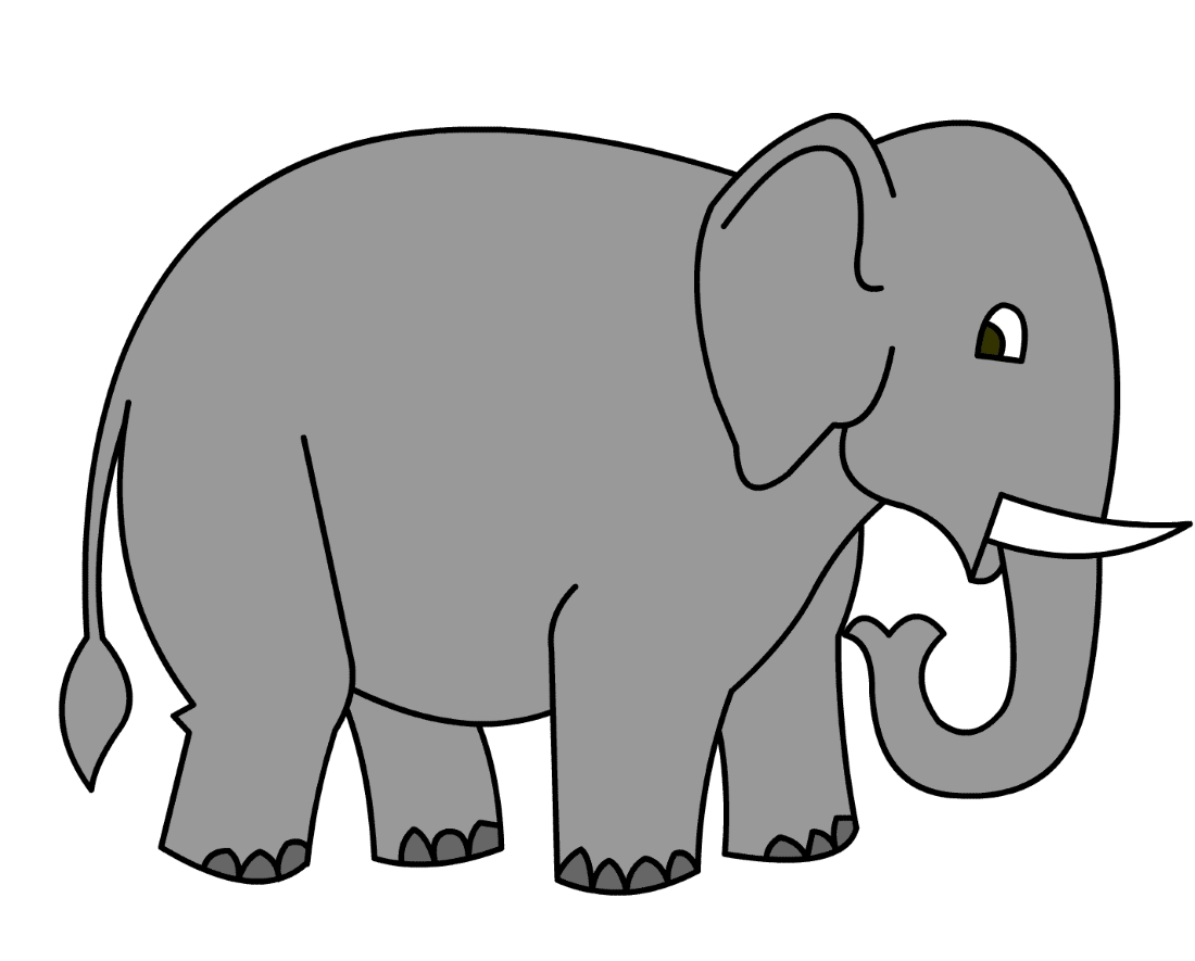 слон координатные рисунки