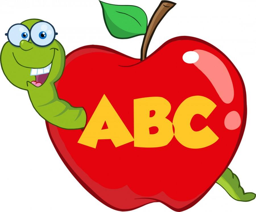 Картинка яблоко с червяком