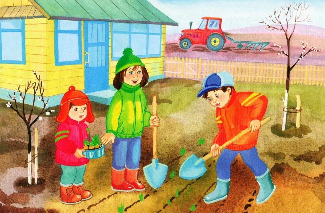 Мы сажаем огород стих деткам 65