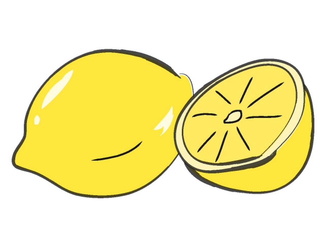 Lemon drawing for kids