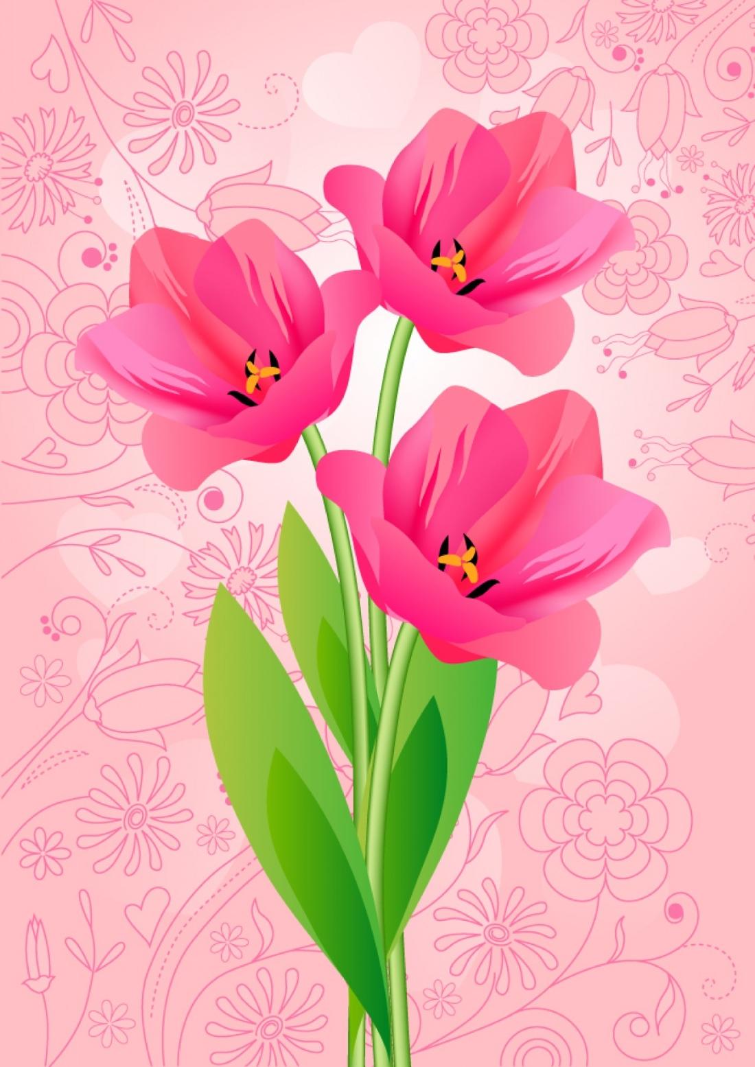 Открытка цветок в формате а4