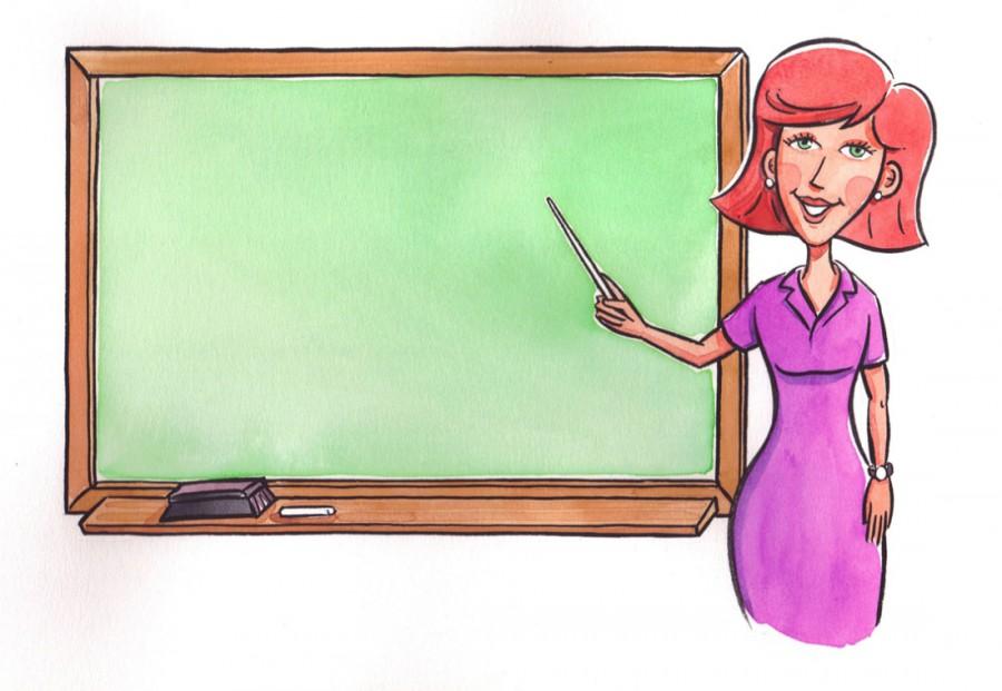 Учительница у доски с рыжими волосами - картинка №13275 ...
