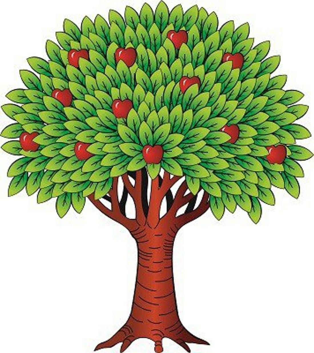Картинки яблоня для детей