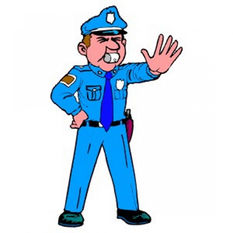 Полицейский останавливает правонарушение - картинка №12130