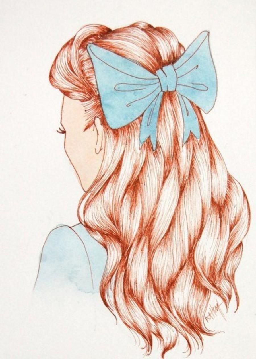 Как нарисовать маленьких девочек с длинными волосами