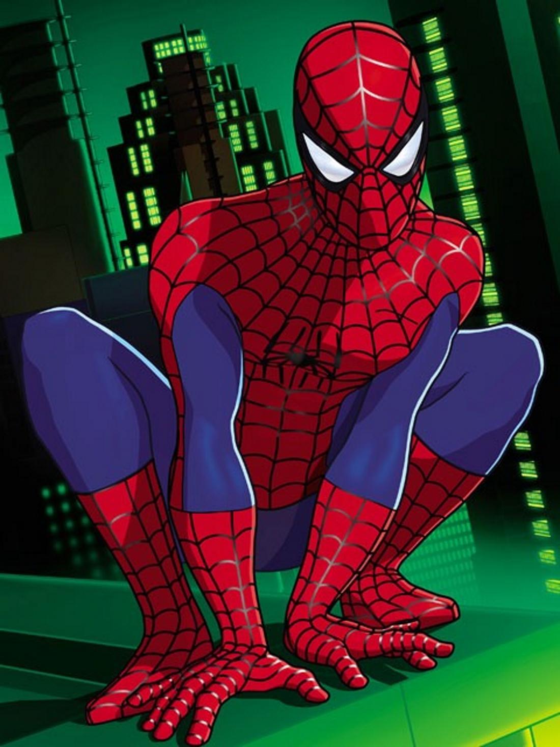 Человек паук сидит на корточках - картинка №11963 ...