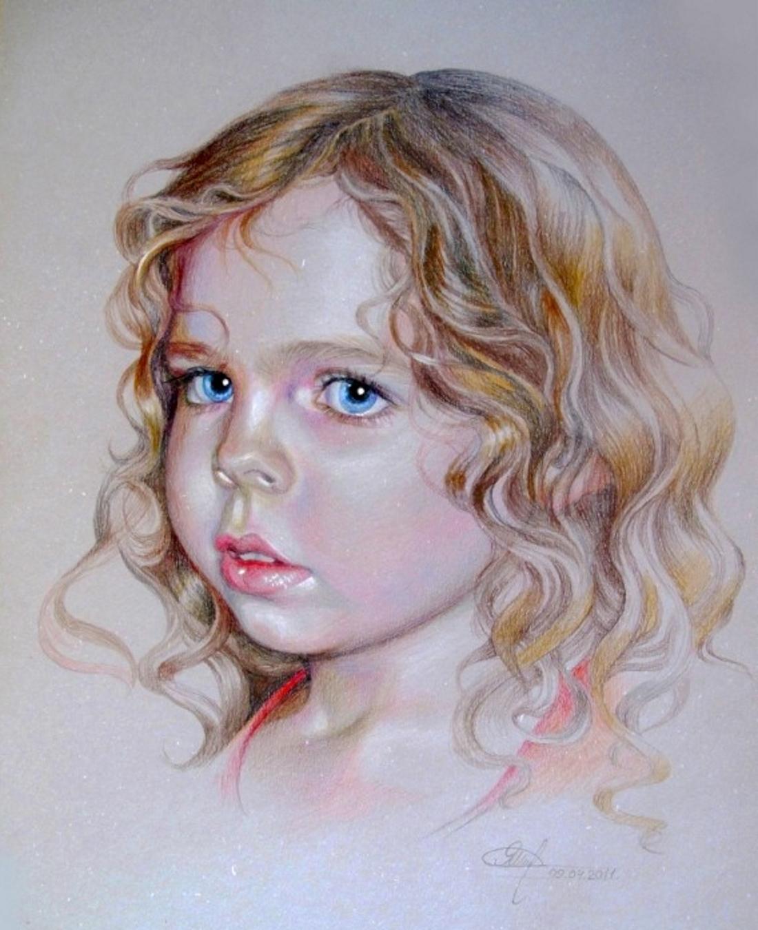 Красивые фото детей карандашом