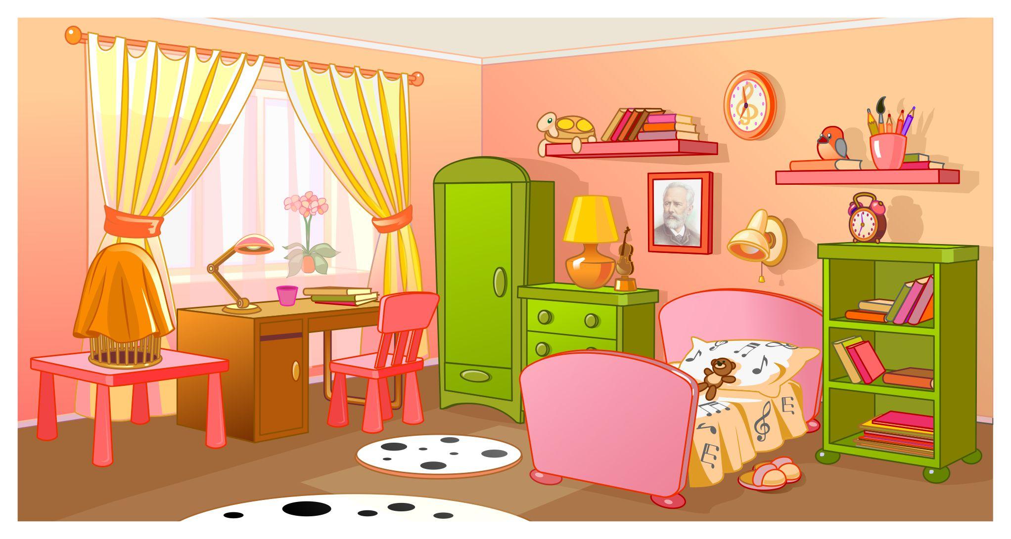 Рисунки про комнату в